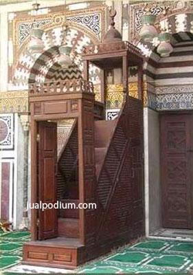 Mimbar Masjid Mewah Jati