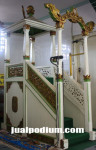 Mimbar Masjid Cat Duco Putih