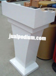 Mimbar Podium Kayu Cat Putih