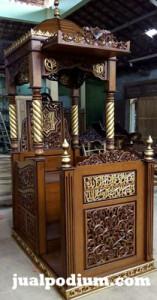 Mimbar Masjid Nurul Hidayah Kalimantan Timur