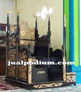 Mimbar Masjid Classic Ukir Jepara