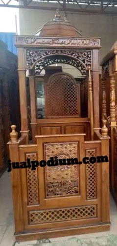 Mimbar Masjid Model Arabic Kayu Jati